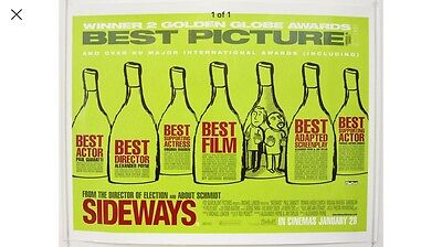 Sideways Original Uk Quad Poster Paul Giamatti, Thomas Haden Church