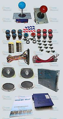 Arcade parts Bundles kit with Game elf 621 in 1 Joystick & Silver Plated Buttons