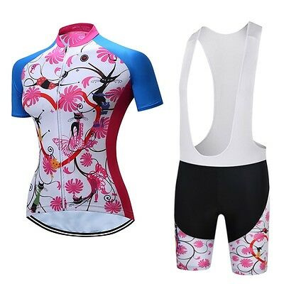 Quick Dry TELEYI Women Cycling Clothing Ropa Ciclismo Bike Jersey Bib Short Sets