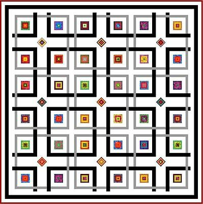"""YIPPY-I-O - White - 82"""" - Quilt-Addicts Precut Patchwork Quilt Kit Queen Size"""