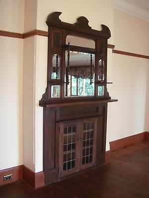 Vintage Build in Cabinet with Leadlight Doors