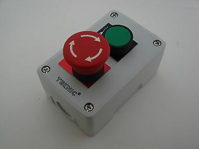 Start/Emergency Stop Push Button Station Twist to Release