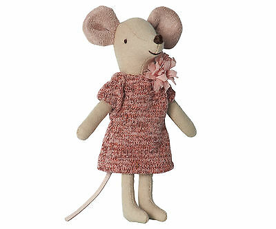 MAILEG  Big Sister Limitierte Edition Winter Maus Pink Wolle Kleid 16-6784-00