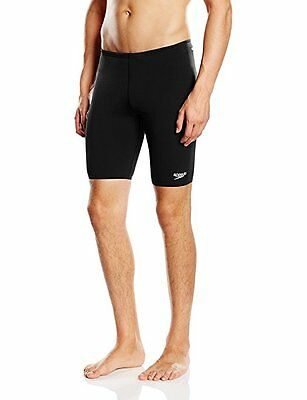 Mens Speedo Endurance+ Jammer Men's Swimming Shorts - Black 34""
