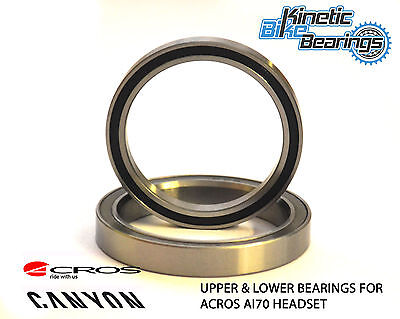 Acros AI70 Headset Bearings (Upper & Lower) as found in many Canyon Bikes