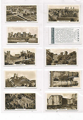 COPE CASTLES COMPLETE SET 1939 EXC COND if not mint