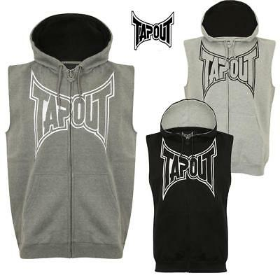 Tapout Men's Sleeveless Hoodie MMA Cage Fighting  Training Casual Top Large