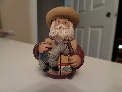 SOUTHWEST DECOR Mexican Resin w/burro  Hand Crafted