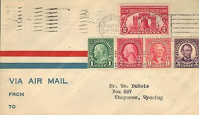 Usa First Day Cover 1926 Sesquicentennial Exposition Via Air Mail & Back Stamps