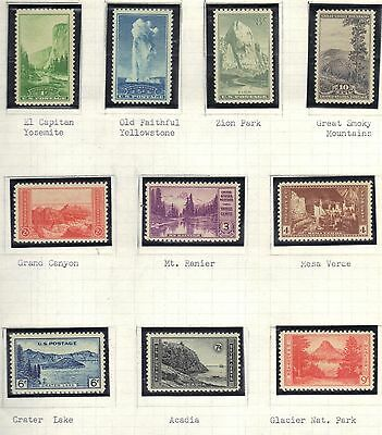 Usa Mnh 1934 National Parks Issue