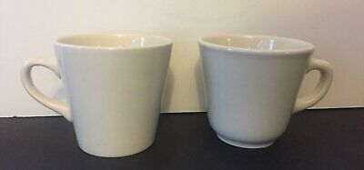 VINTAGE Homer Laughlin China Small Diner Style Coffee Mugs HLC Cups Lot of 2