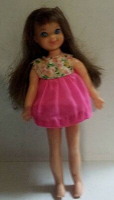 """Vintage 1965 Tutti Bendable Doll 6 1/4"""" Height With Original Clothes Mattel"""