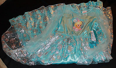 New Disney Store Authentic Frozen ELSA Costume Dress Size 7/8 NWT