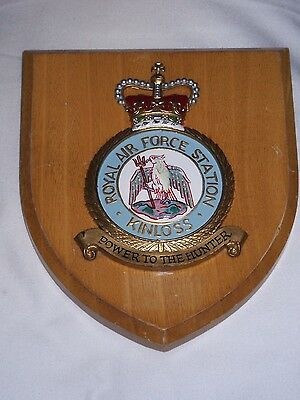 Vintage Wooden Wall Plaque - Royal Air Force Station, Kinloss.