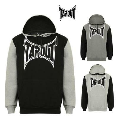 Tapout Men's  Hoodie Contast Sleeves MMA Cage Fighting Training Casual Top Large