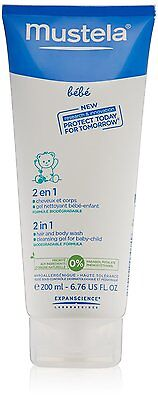 Mustela 2 in 1 Hair and Body Wash -  200ml