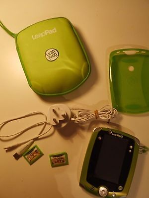 Leap Frog - LeapPad2 in green with games, case, charger & gel case