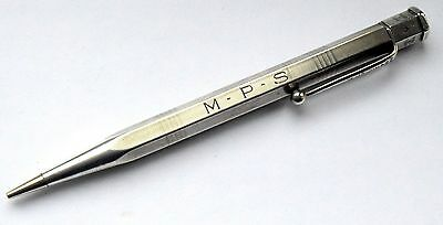 RARE DATE WWII Vintage Solid Silver Yard O Led Propelling Pencil, London 1940