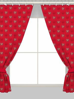 """ARSENAL FC 66"""" x 72"""" CURTAINS NEW OFFICIAL FOOTBALL"""