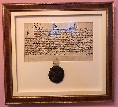 Extremely Rare Royal Tudor Document Signed By Elizabeth I Queen Of England 1592