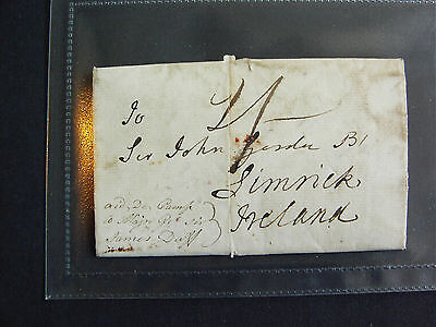 1797 Military Letter, Scotland to Limerick – 'Ireland in a Horrid State'