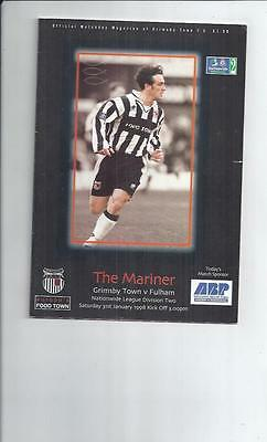 Grimsby Town v Fulham Football Programme 1997/98