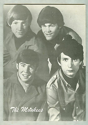 """THE MONKEES MONKEE CLUB REPLY POSTCARD 1960s DAVY MICKEY PETER MIKE 6X8"""" CLOSEUP"""