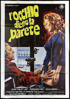 L'occhio Dietro La Parete Manifesto Cinema Film Thriller 1977 Movie Poster 4F