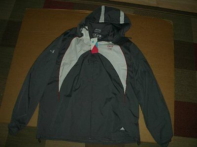 Official 2012 Coca-Cola London Olympic Addidas Recycled Large Jacket new w/ tag!