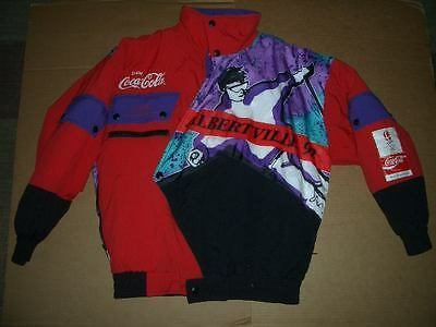 Official 1992 Coca-Cola Albertville Winter Olympic Ski Coat Puff Jacket- Size S