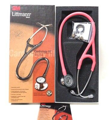 3M Littmann Cardiology III Stethoscope, Coral Pink 3149
