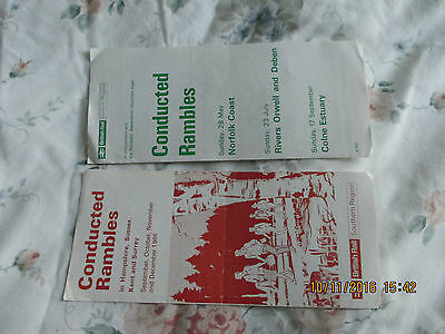 2 Original&complete British Rail Southern/eastern Conducted Rambles 1966/7