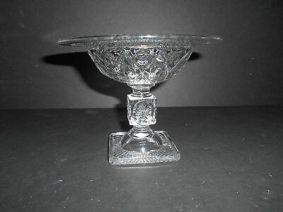 """Neat Crystal Imperial Cape Cod 6"""" Footed Comport"""