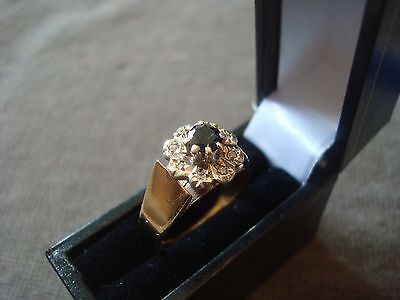 LADIES 9CT.375 YELLOW GOLD DIAMOND / SAPHIRE RING 4.5g SIZE M BOXED REF 4346