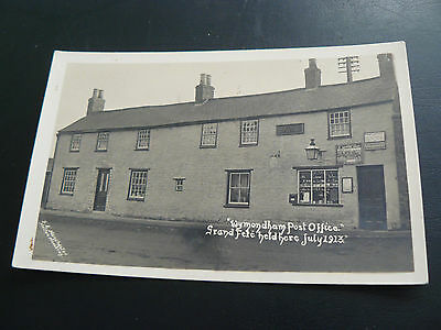 Real Photo RP Postcard Wymondham Post Office Grand Fete held here July 1913