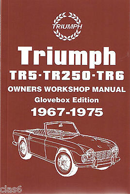 Triumph TR5, TR250, TR6 Owners Workshop Manual *NEW
