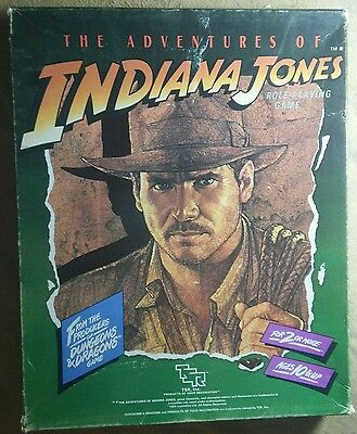 TSR THE ADVENTURES OF INDIANA JONES RPG 1984 Box Damaged NEW