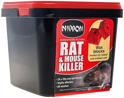 Nippon Rodenticide Blocks 24 x 20g