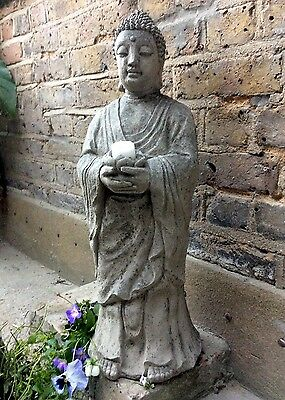 Beautiful Large Divine Buddhas T/lit Statue 64cm For The Home Or Garden (Sius)