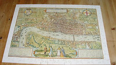 Optimago Wooden Jigsaw Puzzle City Of London Map View 300 Pieces