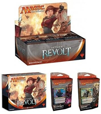 Magic the Gathering Aether Revolt Pack: Booster Box/Bundle/2 Planeswalker Decks