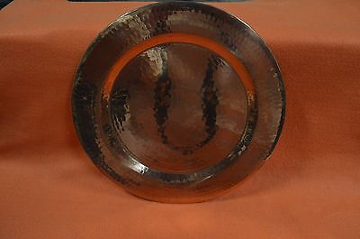 Vintage Antique Hammered Solid Copper Plate 11 3/4''