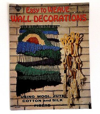 Vintage Instruction Pattern Booklet 1977 Easy to Weave Wall Decorations