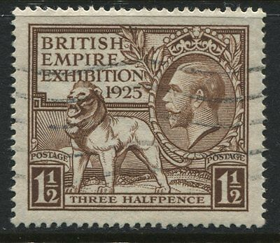 KGV 1925 1 1/2d Wembley brown SG 433 VF used