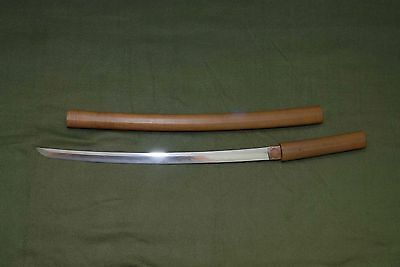 Vintage Japanese Sword in Shirasaya, Wakizashi