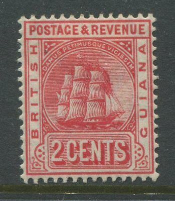 British Guiana 1907 2 cents Type 1 mint o.g.