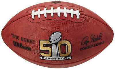 Wilson NFL Superbowl 50 Game Ball, Official Size, Leather