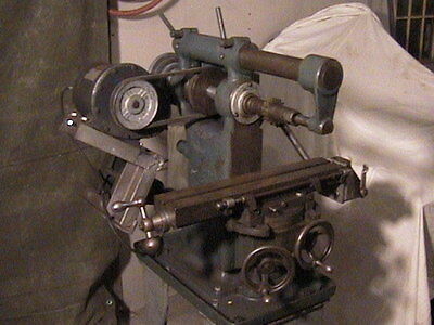 Burke Horizontal Mill Milling Machine & Cutters Model # 4 126 A