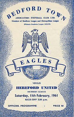 Bedford v Hereford United (Southern League) 1960/1