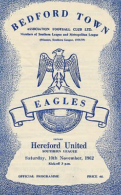 Bedford v Hereford United (Southern League) 1962/3